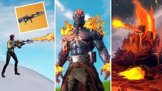 Snowfall Skin on FIRE! Snow is Melting in Fortnite! Fortnite Funny Moments