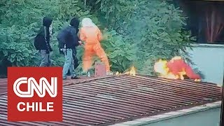 Acusan que perdigón policial ocasionó explosión de molotov de encapuchado del Instituto Nacional