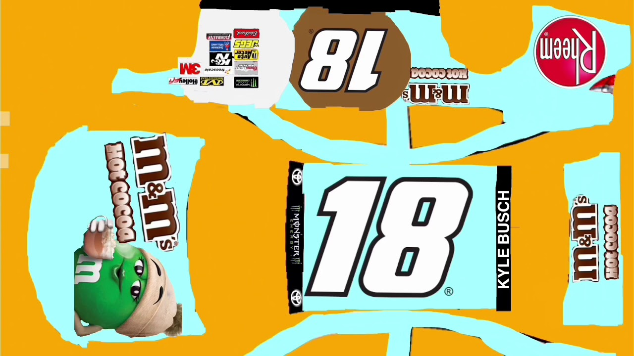 Kyle Busch 18 Hot Cocoa M M S Template Link In Description Youtube