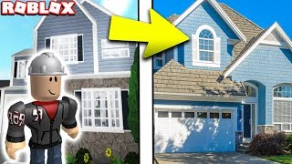 BUILDING A HOUSE in REAL LIFE (Roblox Building Simulator)