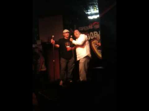 Lou dog and Kellen karaoke