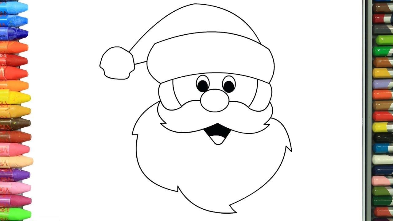Wie zeichnet man Weihnachtsmann  Zeichnen und Ausmalen für Kinder
