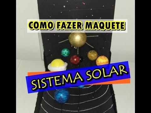 Como Fazer Maquete Fácil Do Sistema Solar Canal Aline Camargo