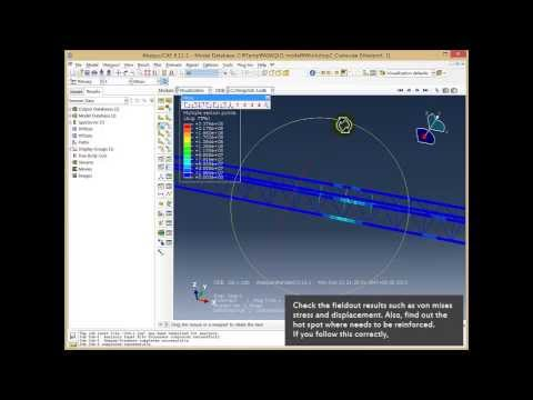 ABAQUS tutorial-Beam Structure(Static Stress Analysis of Gan