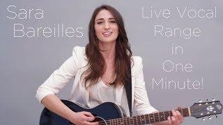 Sara Bareilles - Live Vocal Range in One Minute!