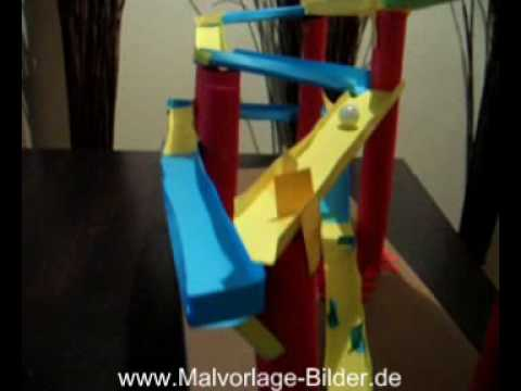 murmelbahn f r kinder zum selber basteln youtube. Black Bedroom Furniture Sets. Home Design Ideas