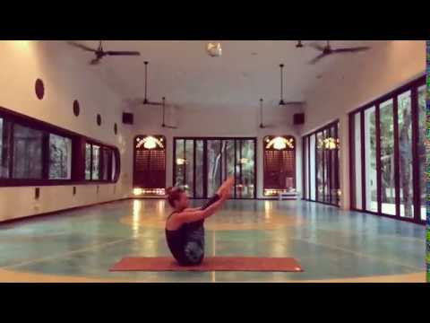 Hamstrings and core sequence (sped up) at Holistika Tulum
