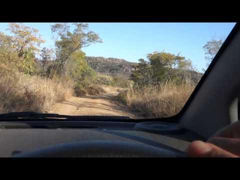 Driving in Whovi Game Park, Matopos National Park, Zimbabwe