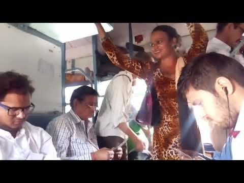 Hijras collecting money in the train in India