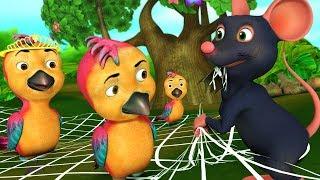 The Clever Birds Telugu Kathalu | Telugu Kids Stories | Infobells