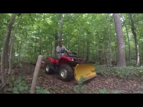 logging and Skidding With ATV 660 Grizzly