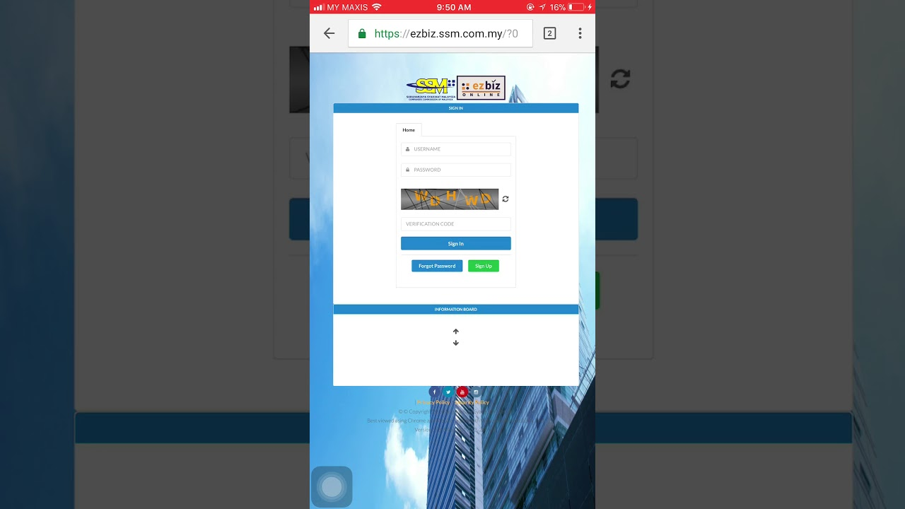 Tutorial 4 Download Sijil Ssm Dari Ezbiz Online Youtube