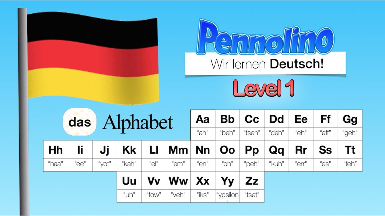 pennolino deutsch lernen aussprache pronunciation das alphabet abc bis z learn german. Black Bedroom Furniture Sets. Home Design Ideas