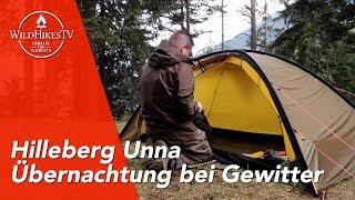 Hilleberg Unna, MSR Access 2 & Carinthia G145 🏕 Übernachtung im Wald mit dem YouTube Phantom