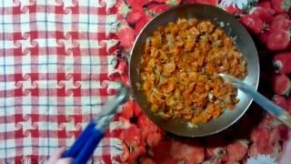 Дегустируем тушеную редьку с морковью