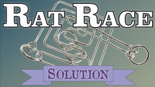 Solution for Rat Race from Puzzle Master Wire Puzzles