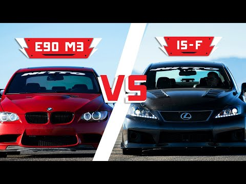 BMW E90 M3 vs. Lexus IS-F | Driver Battles