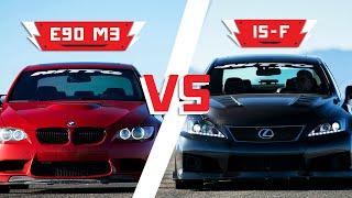 BMW E90 M3 vs. Lexus IS-F | Driver Battles