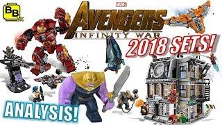 FULL ANALYSIS!! 2018 AVENGERS INFINITY WAR LEGO SET IMAGES REVEALED!