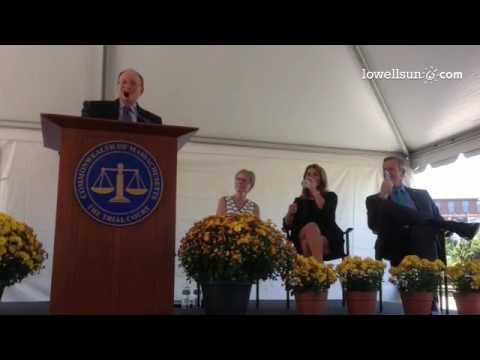 SJC Chief Justice Ralph Gants recalls choice in hot Lowell courtroom: open windows for air, or hear