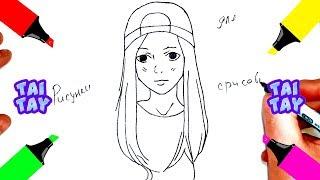 Как Нарисовать АНИМЕ девушка Красивые рисунки для срисовки