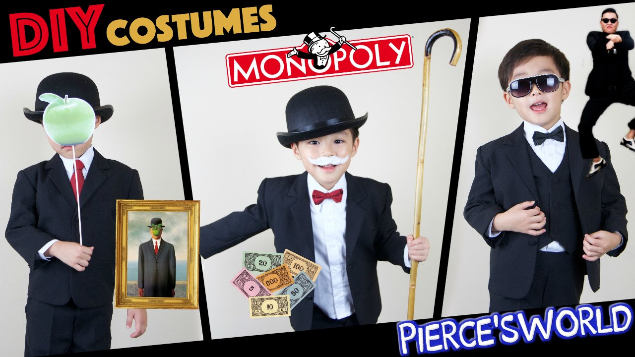 diy last minute halloween costumes psy monopoly son of man youtube