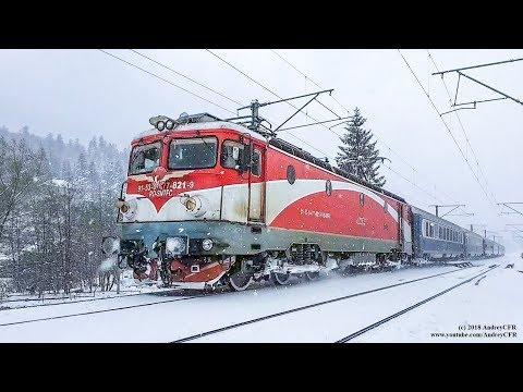 Diverse trenuri prin zăpadă în România / Winter Trains in Romania