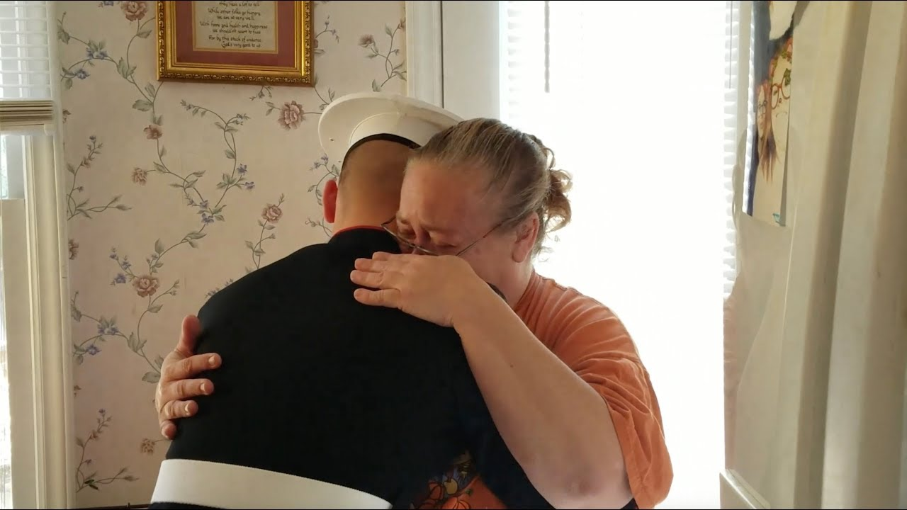 Marine Surprises Mom Dad After Graduating