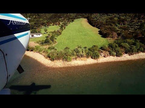 New Zealand, Savill Bay - Landing and Take off