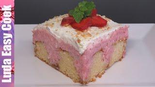 ПИРОГ ЧИЗКЕЙК С КЛУБНИКОЙ ОЧЕНЬ ВКУСНЫЙ И НЕЖНЫЙ пошаговый рецепт видео Strawberry Cheesecake Recipe