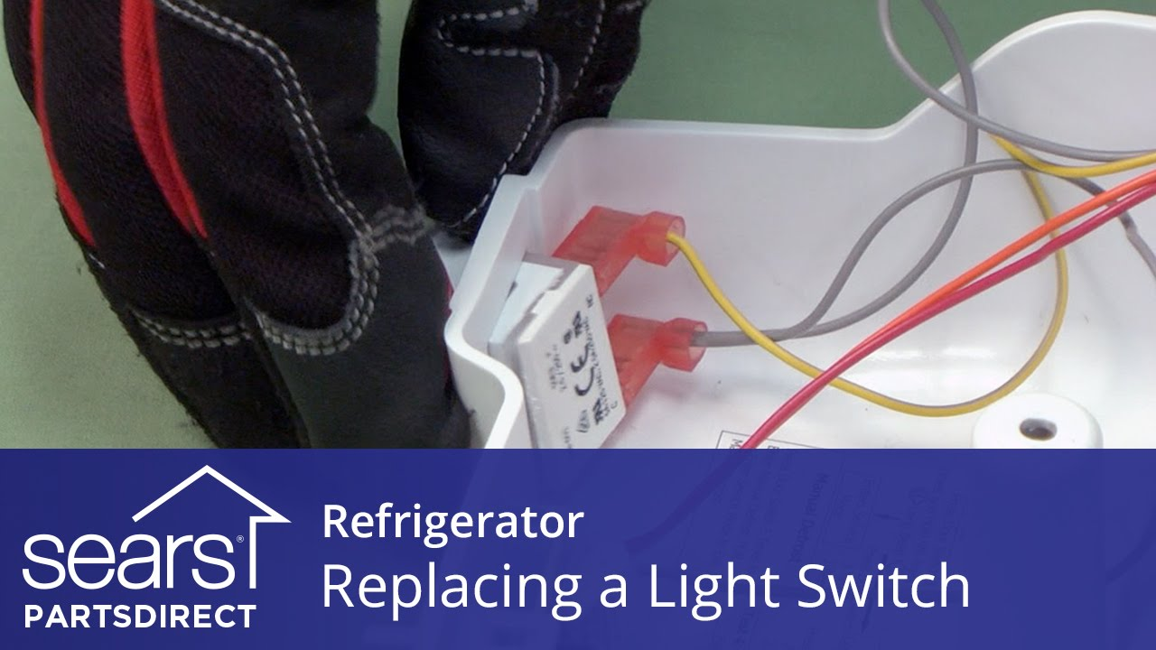maxresdefault how to replace a refrigerator light switch youtube Wire Harness Assembly at creativeand.co