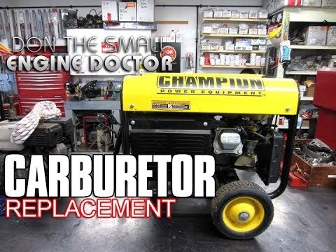 HOW-TO Replace The Carburetor On A Generator on