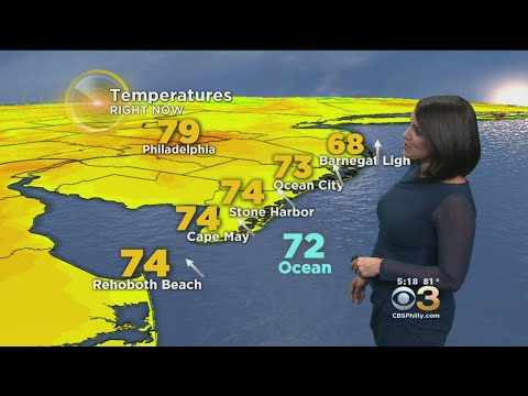 Tuesday Evening Weather Forecast: Partly Cloudy & Quiet; Low 64