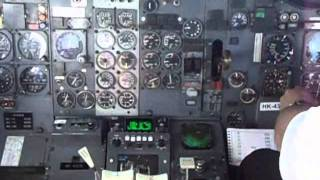 cockpit video boeing 737 200 takeoff from panama city panama to bogota colombia