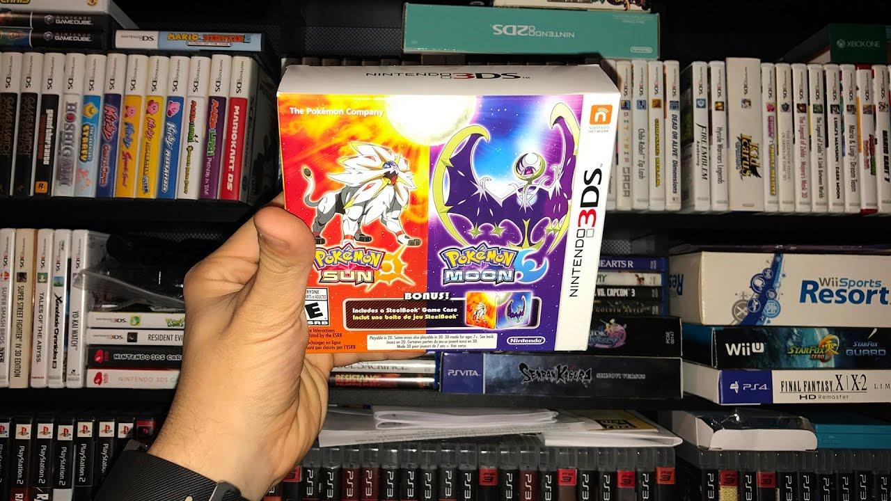 pokemon ultra moon steelbook edition 3ds game