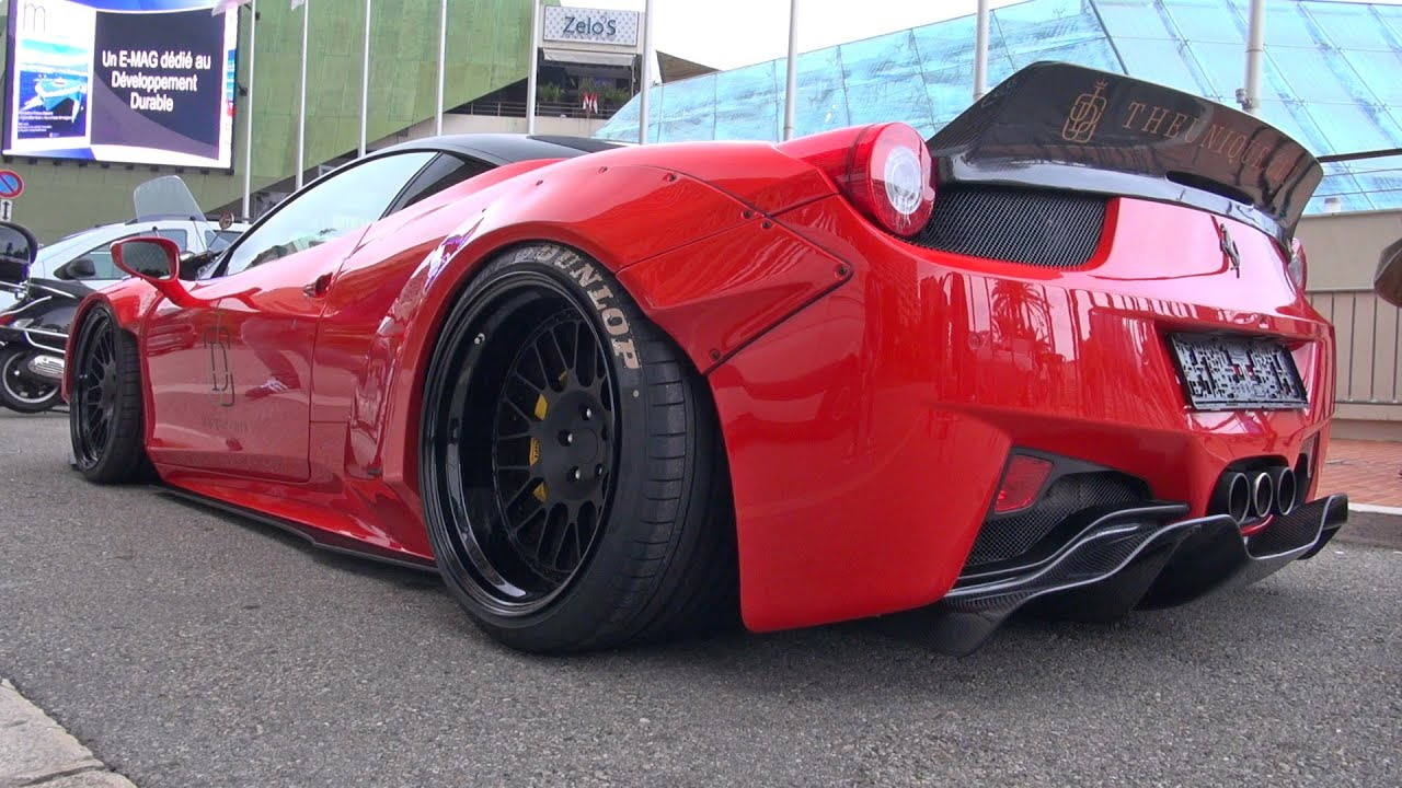 liberty walk lb performance ferrari 458 lift system demonstration youtube. Black Bedroom Furniture Sets. Home Design Ideas