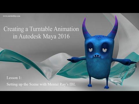 Turntable Animation in Maya 2016