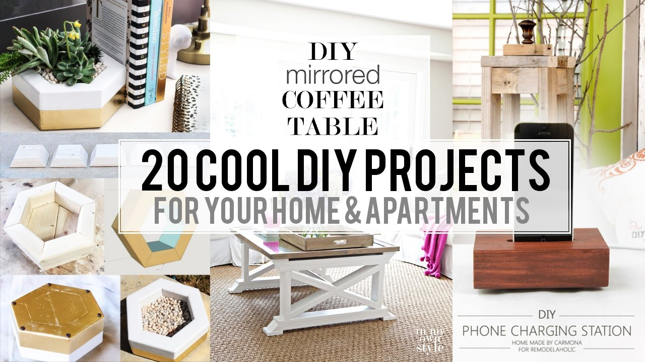 at home decorating projects 20 cool home decor diy project 10394