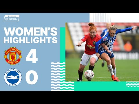 Women's highlights: Manchester United 4 Brighton & Hove Albion 0