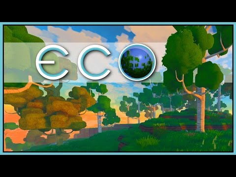 Crafting & Mining - Eco Gameplay - Part 2 [Let's Play Eco Game / Eco Gameplay]