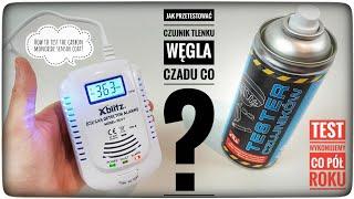 Jak przetestować czujnik czadu tlenku węgla CO ? Tester czujników TermoPasty thumbnail