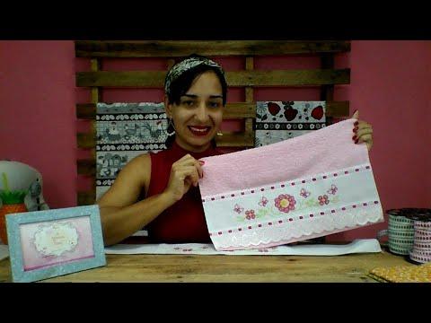 7f86da0dcc7b1d AO VIVO: A Menina do Pano - Como decorar uma toalha de forma fácil!