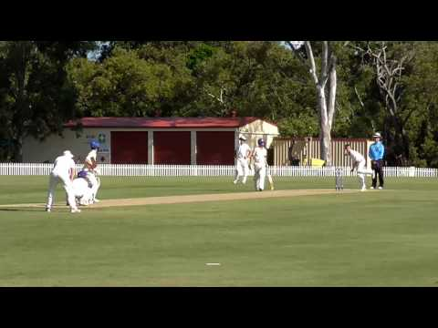 GPS Cricket - Nudgee Bowling vs Churchie (March 2017)