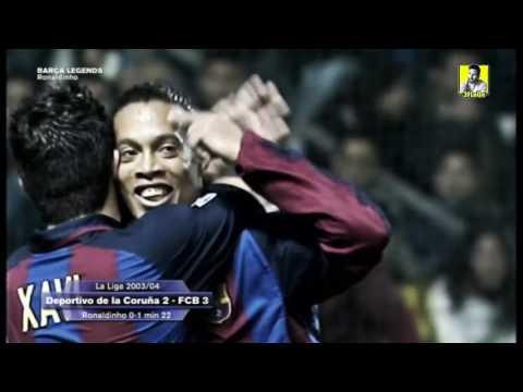 جميع اهداف رونالدينيو مع برشلونة