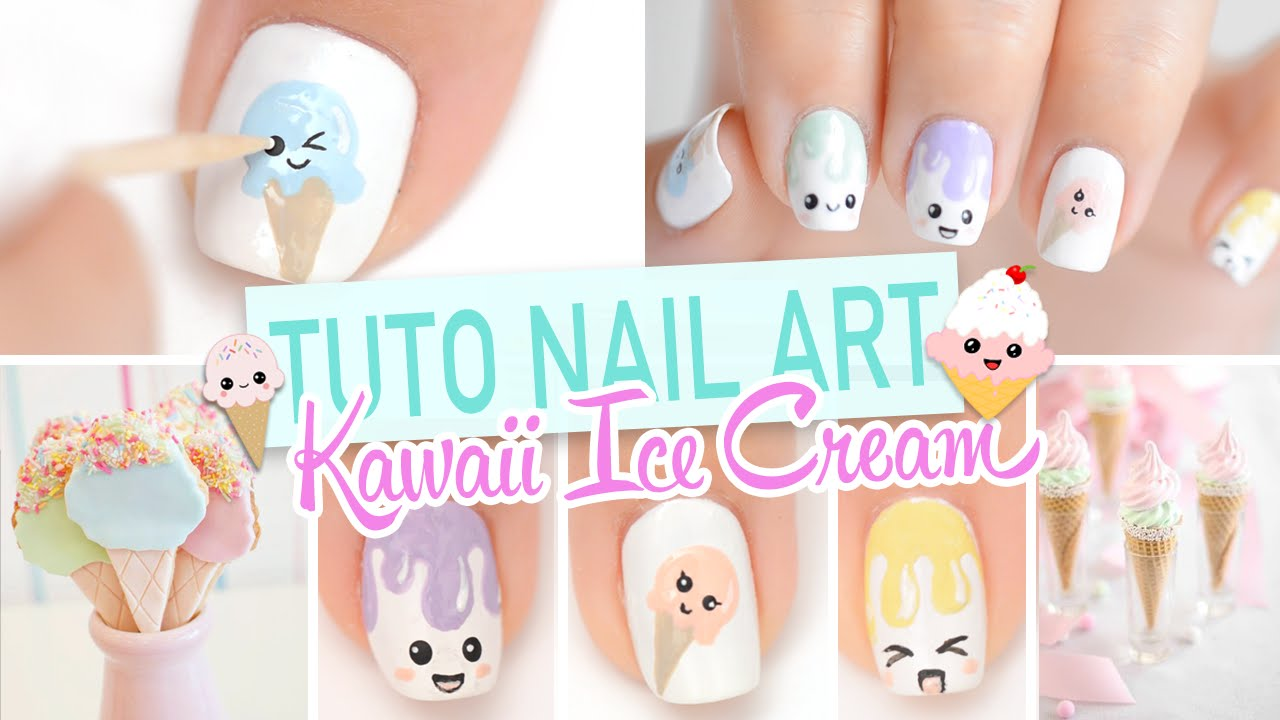 Nail art ♡ Glaces Kawaii - YouTube
