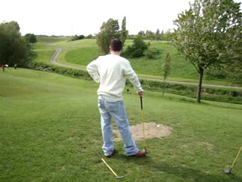 The lads on a pitch and putt outing