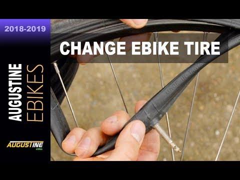 How to change a tire on a rear hub e-Bike motor