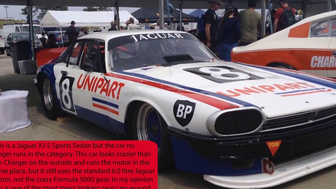 Awesome Valiant Charger & Jaguar XJ-S Race cars - YouTube