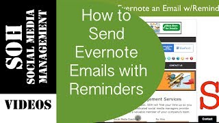 2015 Evernote Tutorial - Sending Emails with Reminders to Evernote