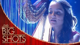 Daria Serenades The Crowd With Her Harp and Voice | Little Big Shots